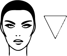 Inverted triangular Face Shape